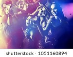 dance party group people... | Shutterstock . vector #1051160894