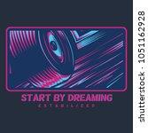 start by dreaming illustration | Shutterstock .eps vector #1051162928