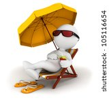 3d white people in vacation... | Shutterstock . vector #105116654