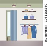 vogue clothes shop  color... | Shutterstock .eps vector #1051166960
