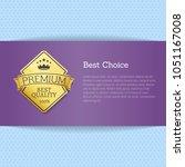 best choice brochure design... | Shutterstock .eps vector #1051167008
