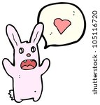 cartoon spooky love rabbit | Shutterstock . vector #105116720