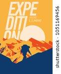 extreme outdoor adventure...   Shutterstock .eps vector #1051169456