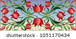 illustration in stained glass... | Shutterstock .eps vector #1051170434