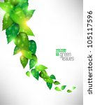 modern green fresh leaves... | Shutterstock .eps vector #105117596