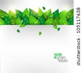 modern green fresh leaves... | Shutterstock .eps vector #105117638