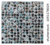 mosaic tile  texture of dark... | Shutterstock . vector #1051178024