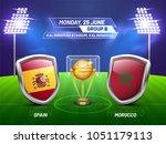 soccer championship league ... | Shutterstock .eps vector #1051179113