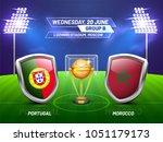 soccer championship league ... | Shutterstock .eps vector #1051179173
