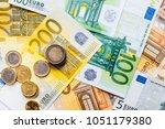 euro money. euro cash... | Shutterstock . vector #1051179380
