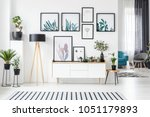 botanical posters on the wall... | Shutterstock . vector #1051179893