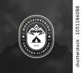 mountains logo emblem vector... | Shutterstock .eps vector #1051186088
