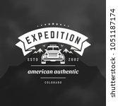 off road cars logo emblem... | Shutterstock .eps vector #1051187174