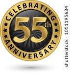 celebrating 55th anniversary... | Shutterstock .eps vector #1051195634