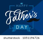 happy father s day lettering... | Shutterstock .eps vector #1051196726