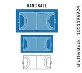 handball court vector...   Shutterstock .eps vector #1051196924