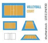 volleyball court vector...   Shutterstock .eps vector #1051196930