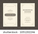 luxury business card and... | Shutterstock .eps vector #1051202246