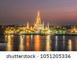 wat arun or wat arun is a... | Shutterstock . vector #1051205336