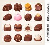 delicious dark and white... | Shutterstock .eps vector #1051206026