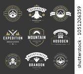 camping logos templates vector... | Shutterstock .eps vector #1051206359