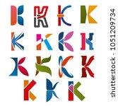 k letter icons template for... | Shutterstock .eps vector #1051209734