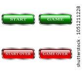 set of buttons. green  red... | Shutterstock .eps vector #1051211228