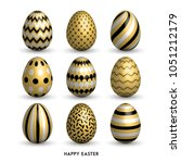 happy easter background with 9... | Shutterstock .eps vector #1051212179