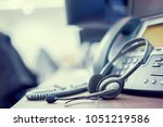close up focus on call center... | Shutterstock . vector #1051219586