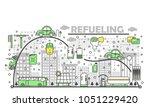refueling concept vector...