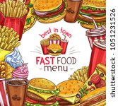 fast food restaurant menu... | Shutterstock .eps vector #1051231526