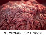 close up portion of minced meat ... | Shutterstock . vector #1051240988