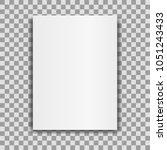 blank brochure mockup cover... | Shutterstock .eps vector #1051243433