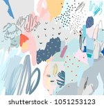 creative art header with... | Shutterstock .eps vector #1051253123