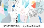 creative art header with... | Shutterstock .eps vector #1051253126