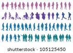 pedestrians vector silhouettes   Shutterstock .eps vector #105125450