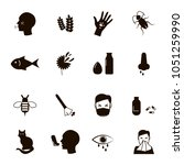 allergy black icons set  vector ... | Shutterstock .eps vector #1051259990