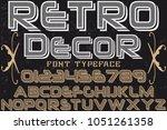 font alphabet typeface... | Shutterstock .eps vector #1051261358