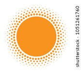 sun icon. halftone orange... | Shutterstock .eps vector #1051261760