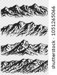 set of huge mountains... | Shutterstock .eps vector #1051265066