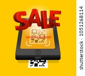 scan qr code to mobile sale... | Shutterstock .eps vector #1051268114