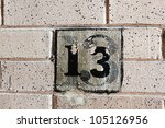 Number 13 Painted Over Many...