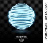 abstract glowing 3d sphere from ...