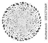 death twirl spin. element... | Shutterstock . vector #1051271069
