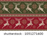 winter holiday sweater with... | Shutterstock .eps vector #1051271600