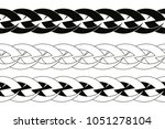 seamless celtic tattoo ornament ... | Shutterstock .eps vector #1051278104