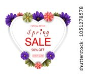 vector illustrator spring sale... | Shutterstock .eps vector #1051278578