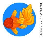 goldfish cartoon | Shutterstock .eps vector #1051281710