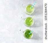 variety of three color green... | Shutterstock . vector #1051284470