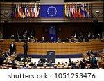 plenary room of the european... | Shutterstock . vector #1051293476